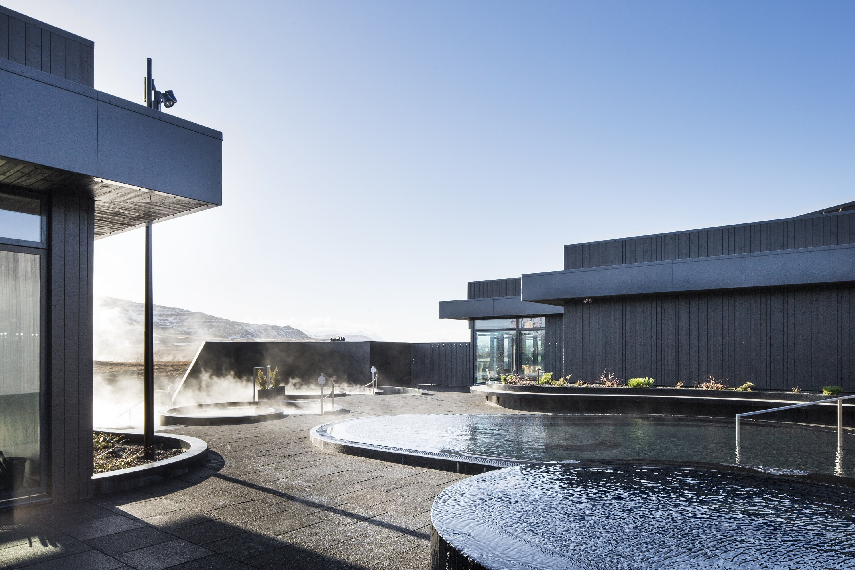 You'll be surrounded by the beautiful Icelandic nature at Krauma geothermal nature baths