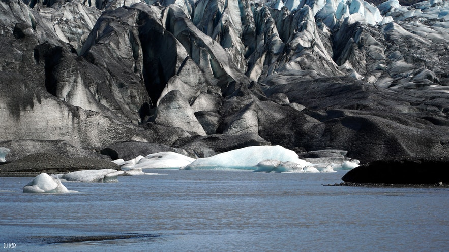 Il est possible de faire une rando sur glacier dans la réserve de Skaftafell
