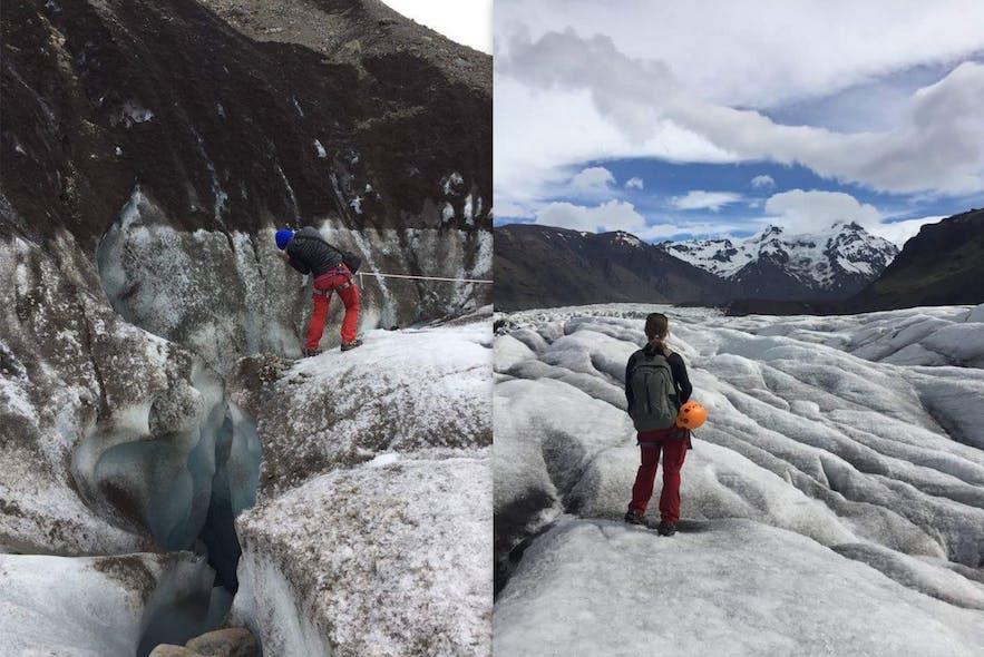 Photo lors de ma rando sur glacier en Islande