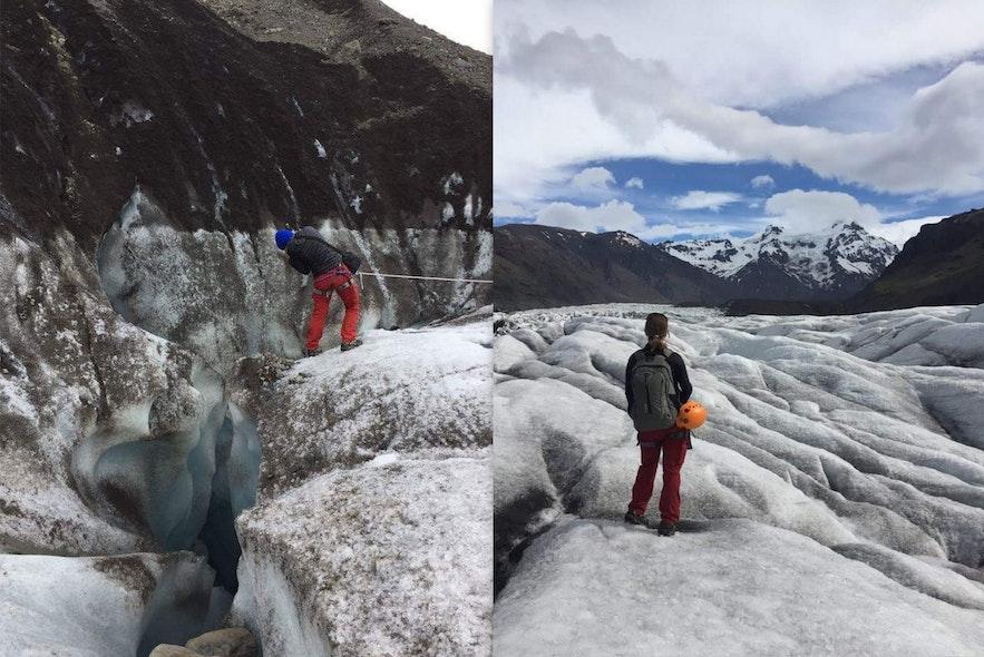 Photo de ma randonnée sur glacier à Skaftafell