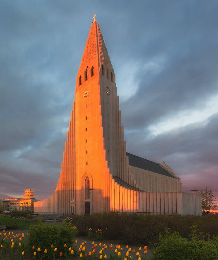 Hallgrímskirkja church in downtown Reykjavík