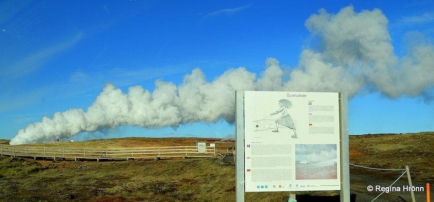 Gunnuhver Mud Pool in Reykjanes in SW-Iceland