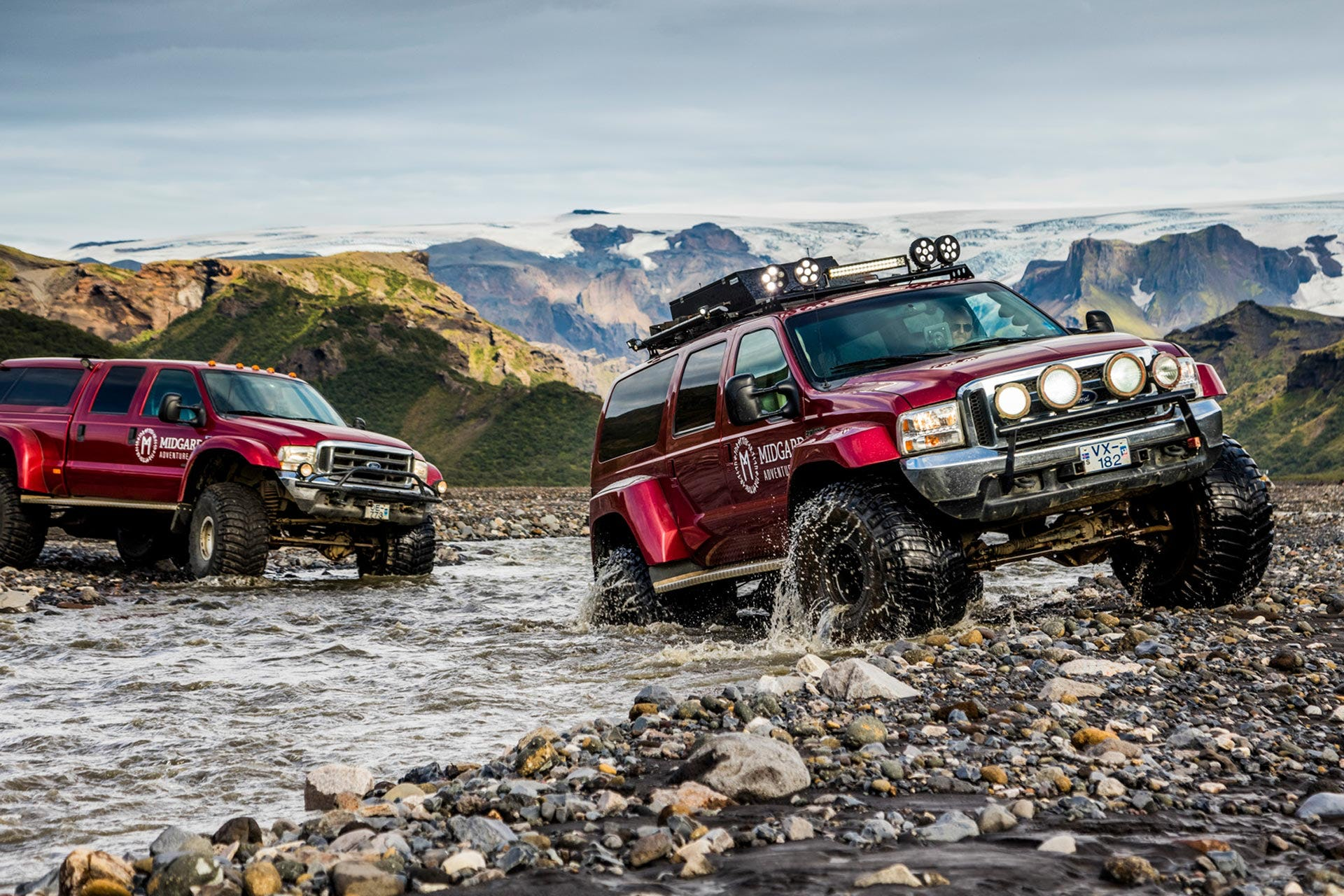 Travel into the wild Icelandic Highlands on a super jeep tour.