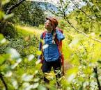 Promenez-vous parmi les bouleaux et les rochers recouverts de mousse verte lors d'une excursion dans la vallée de Thórsmörk, dans les hautes terres.