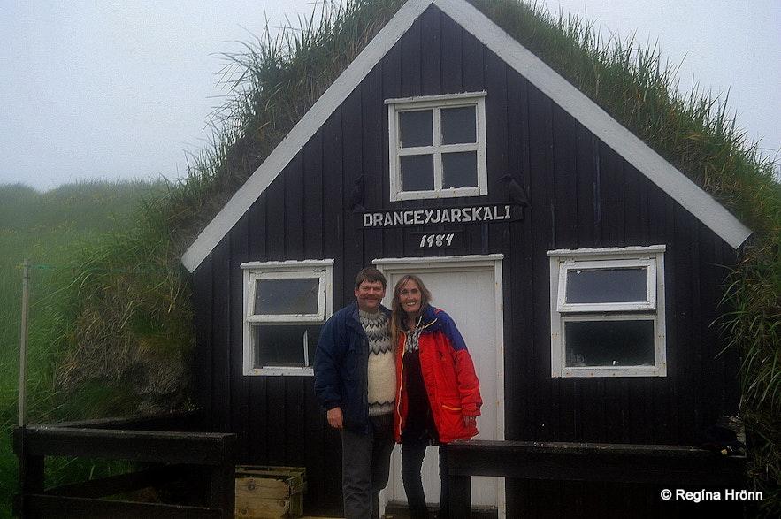Drangeyjarskáli on Drangey island in North-Iceland