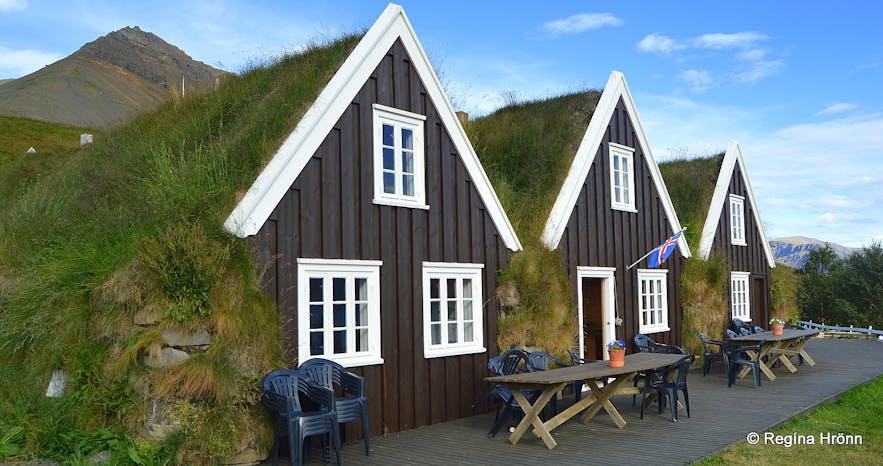 Hrafnseyri turf house in the Westfjords
