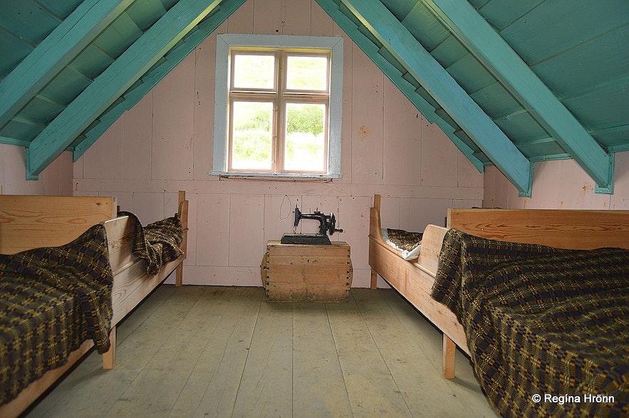 Selið turf house in Skaftafell in South-Iceland inside