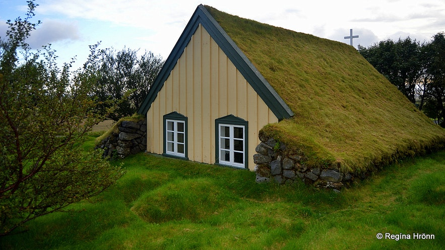 Hofskirkja turf church in South-Iceland