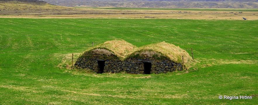 The turf lamb-houses at Keldur in South-Iceland