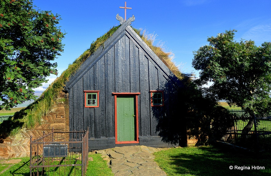 Víðimýrarkirkja turf church in North-Iceland