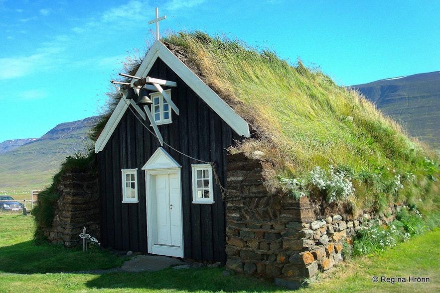 Saurbæjarkirkja turf church in North-Iceland