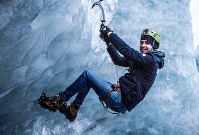 Escalada en el hielo de Solheimajokull