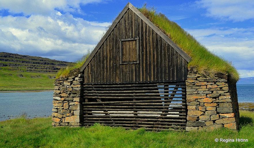 Hjallur - the Shed in Vatnsfjörður in the Westfjords of Iceland
