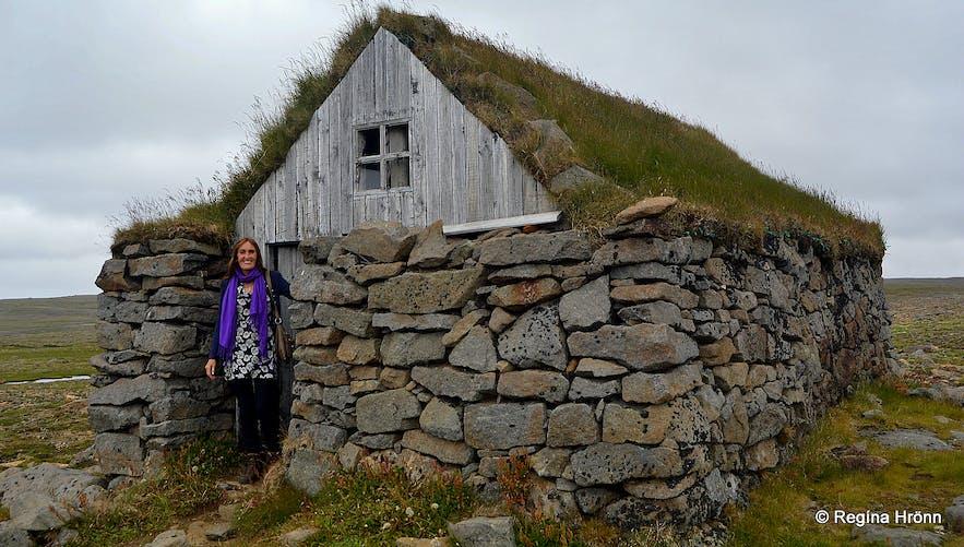 Steingrímsfjarðarheiði turf hospice in the Westfjords of Iceland