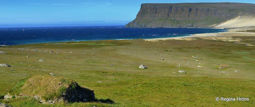 The oldest turf outhouse in Iceland - Hesthúsið á Hólum in the Westfjords