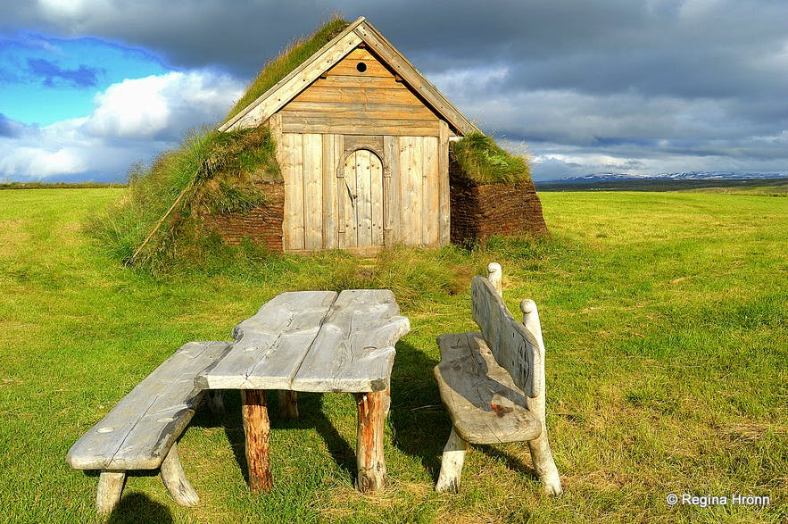 The beautiful Geirsstaðakirkja Turf Church in East-Iceland - a Replica of an old Turf Church​