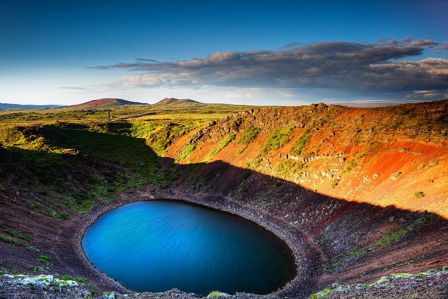 Kerið is a volcanic crater lake in Grímsnes, South Iceland.