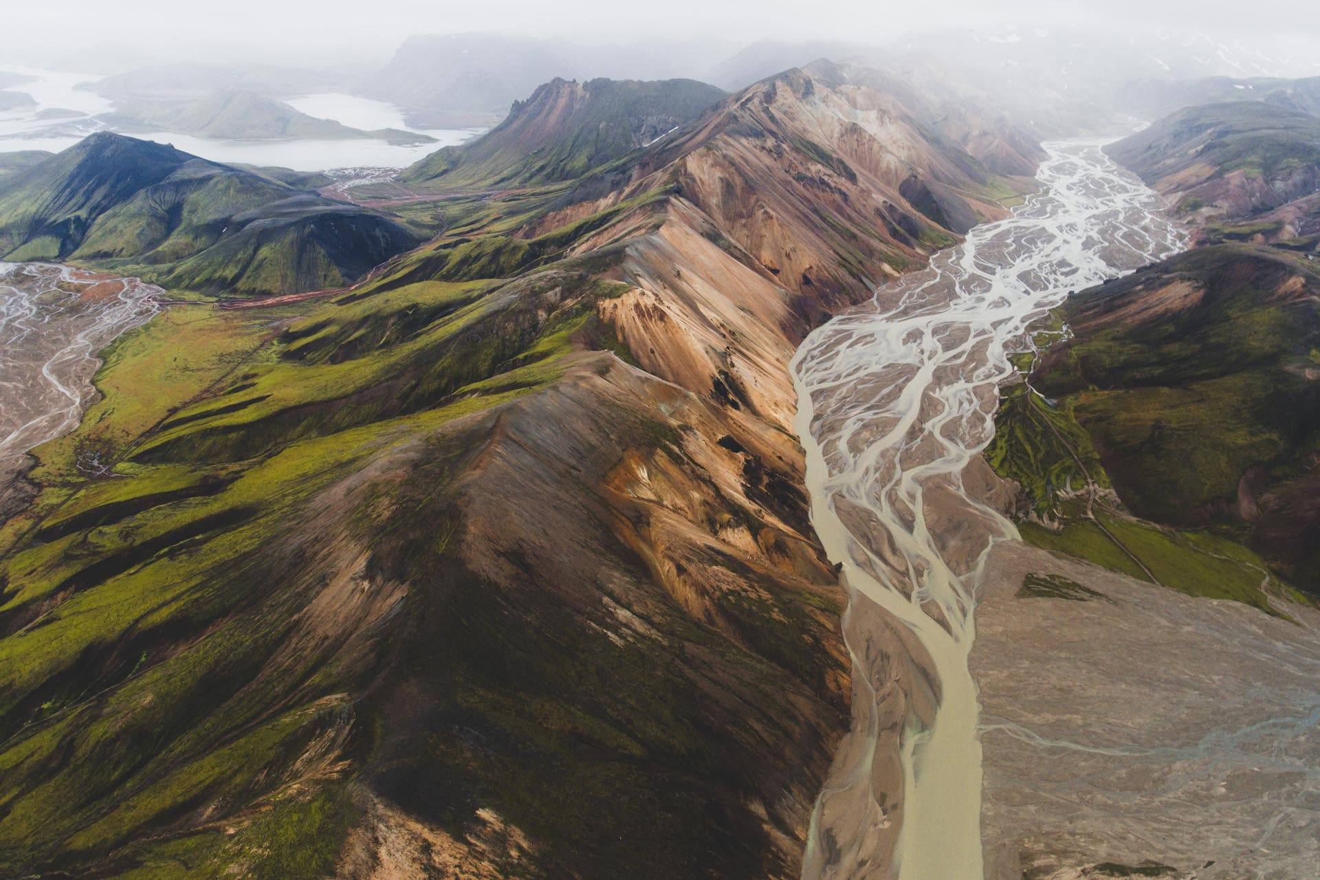 Travel into the geothermal area of Landmannalaugar on a super jeep tour.
