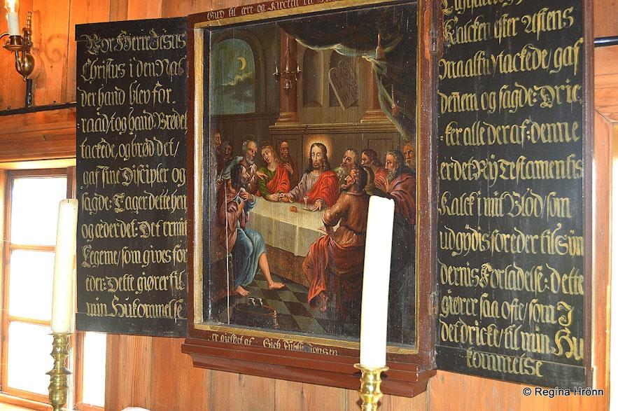 Árbæjarkirkja turf church in SW-Iceland inside