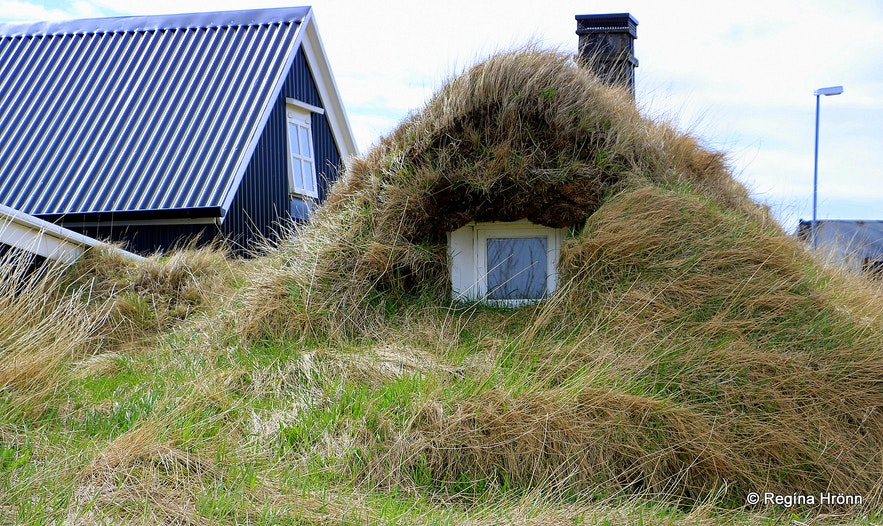 A turf outhouse in Stokkseyri in South-Iceland