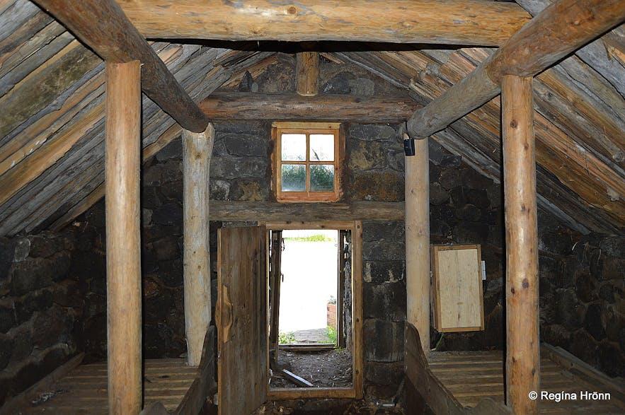Inside Þuríðarbúð fishermen's hut in South-Iceland