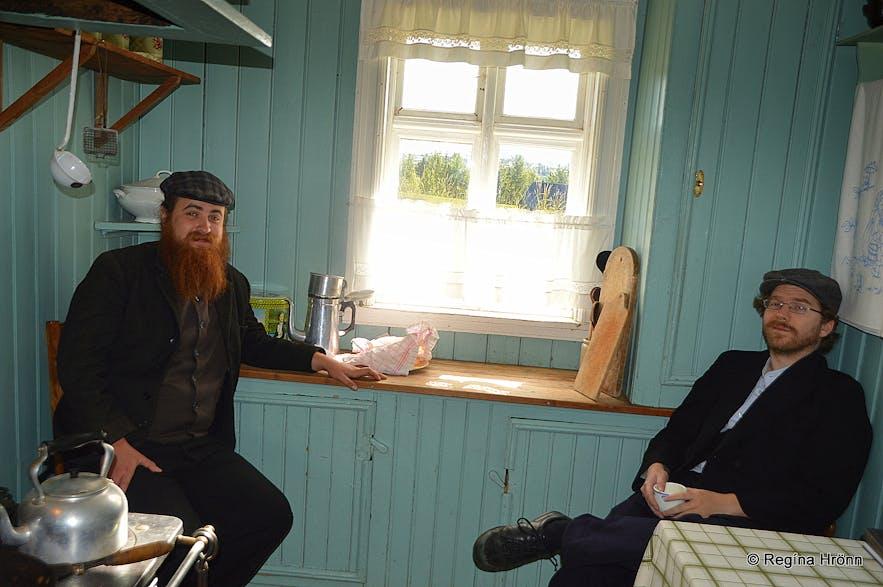 Árbæjarsafn turf house in SW-Iceland inside
