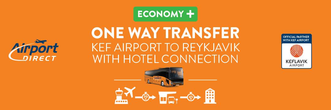 El traslado desde el Aeropuerto de Keflavik a tu alojamiento en Reikiavik no podría ser más fácil.