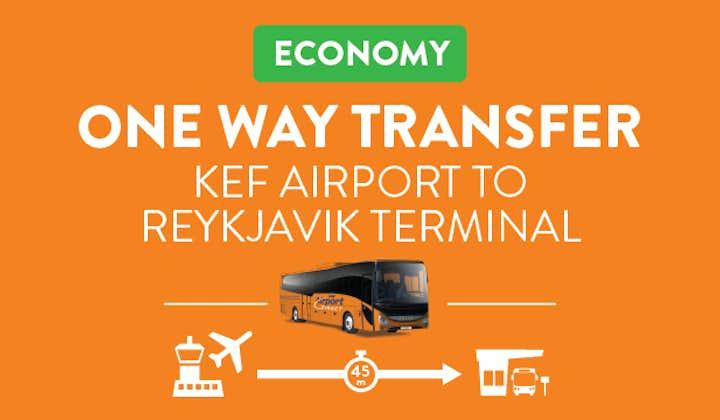 케플라비크 공항에서 레이캬비크 버스터미널까지 직행버스