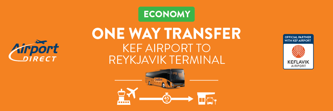 가성비 최고인 직행버스로 케플라비크 공항에서 레이캬비크까지 합리적인 가격으로 이동하세요.