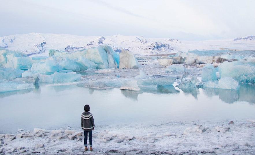 冬季傑古沙龍冰河湖