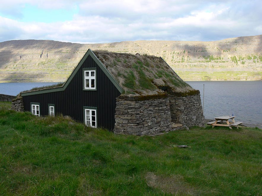 Litlibær farmstead in the Westfjords.