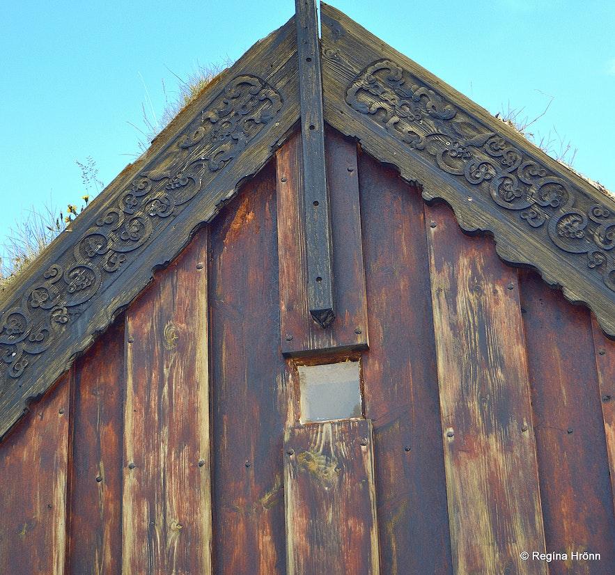 Grafarkirkja turf church in North-Iceland
