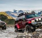 The roads into the Icelandic highlands can be very rough, but easily accessible on a super jeep.