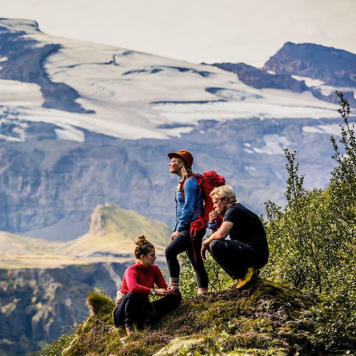 You'll get fantastic views of the Icelandic landscapes while hiking in Þórsmörk valley.