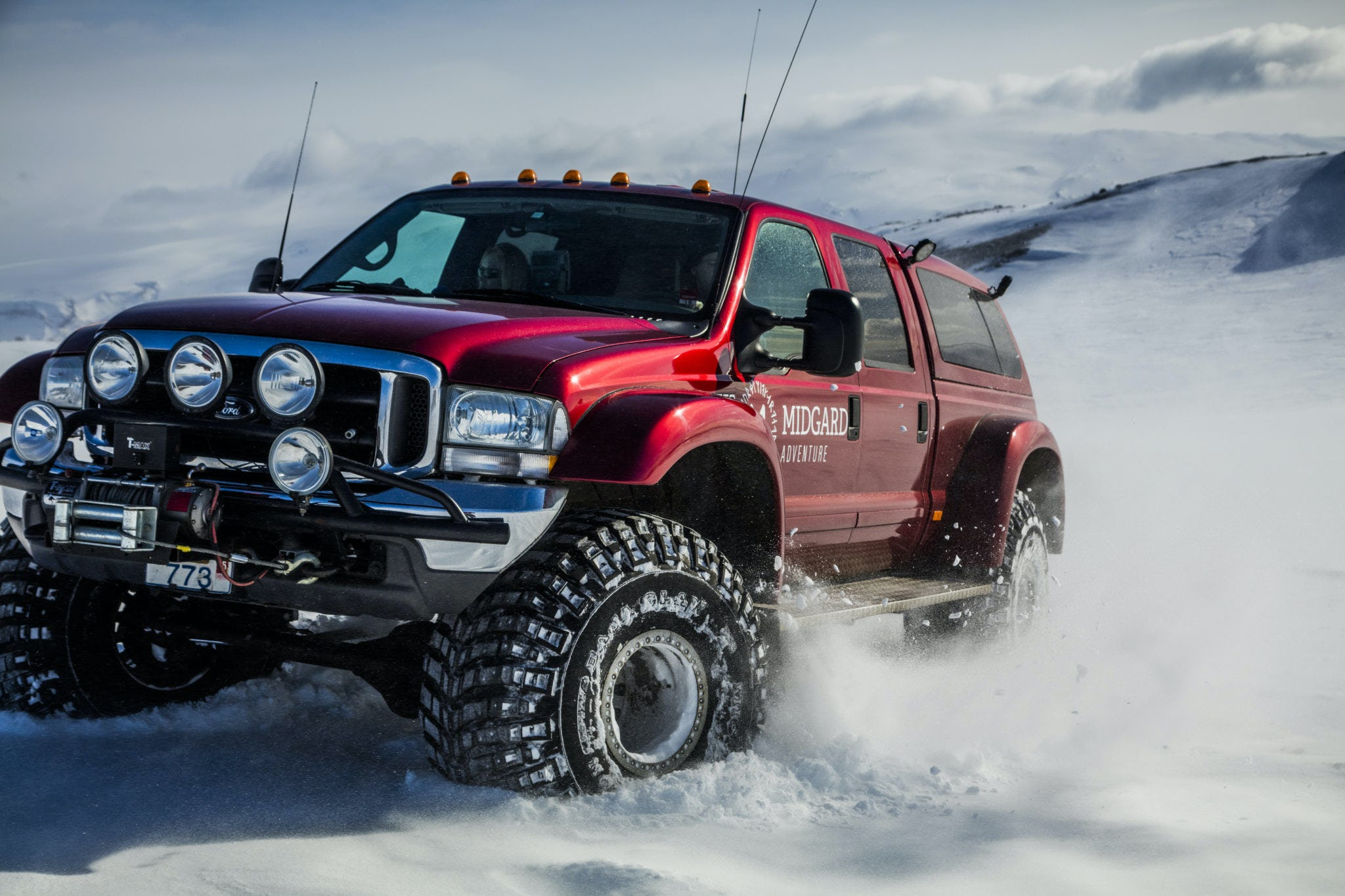 You'll be undertaking your tour in a Ford Excursion, a sturdy vehicle capable of handling Iceland's rough terrain.