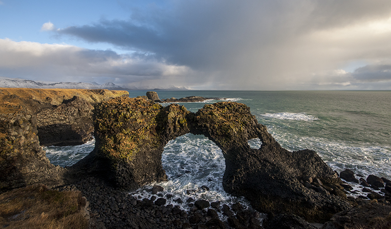 See beautiful rock formations sculpted by the Atlantic Ocean on a minibus tour of the Snæfellsnes Peninsula.
