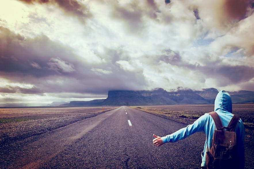 Is hitchhiking a feasible means of travelling around Iceland? Are Icelanders receptive of hitchhikers, and is hitchhiking safe in the country?