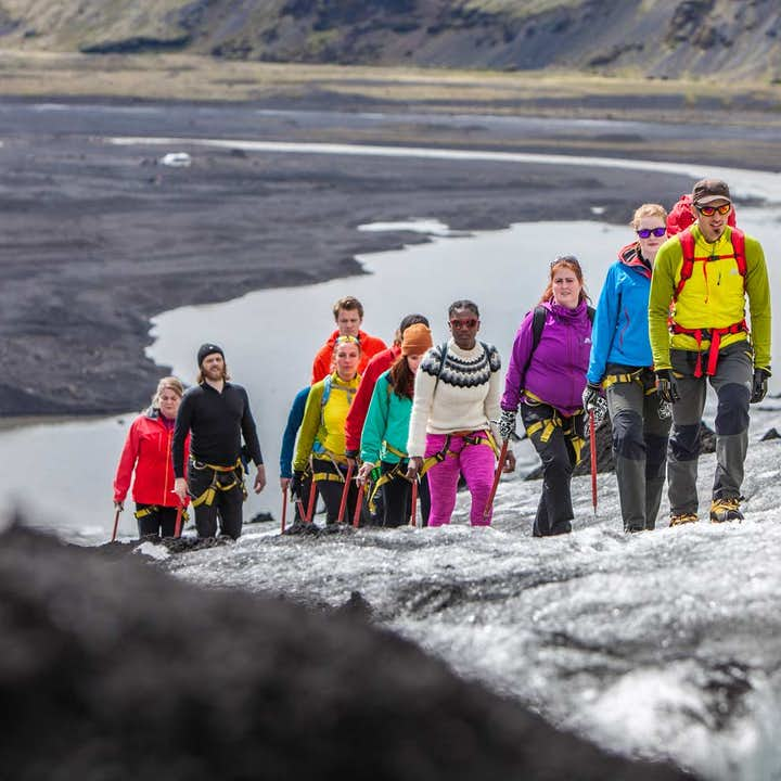 Utforska en glaciär på Sólheimajökull | Låg svårighetsgrad