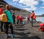 Your guide will provide you with a safety briefing before hiking Sólheimajökull glacier.