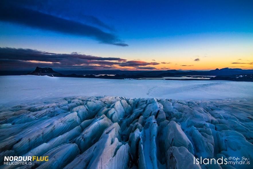 冰島冰川上的樣子