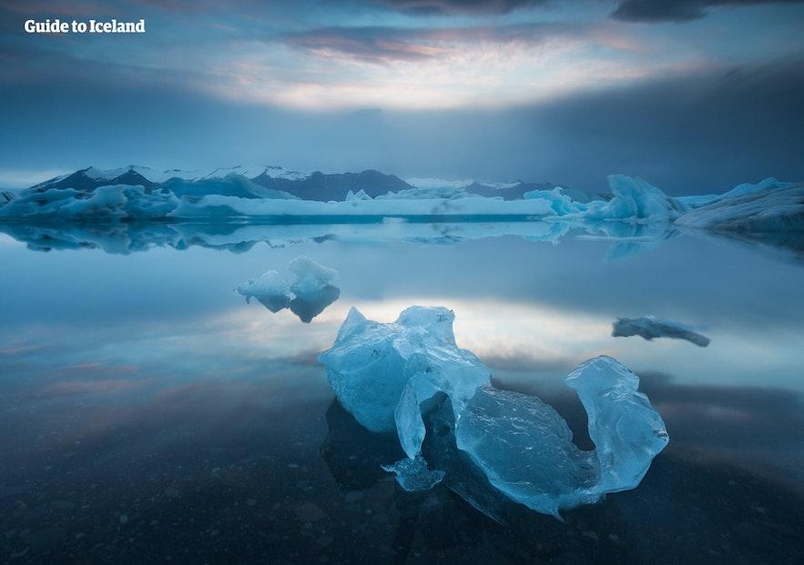 傑古沙龍冰河湖的藍