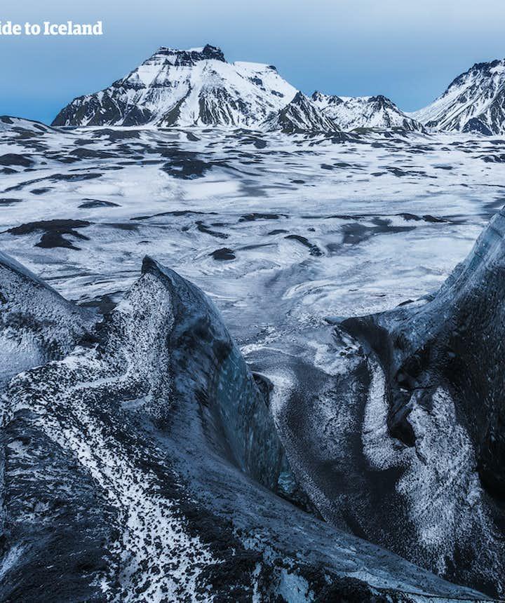 冰島冰川之上的景色