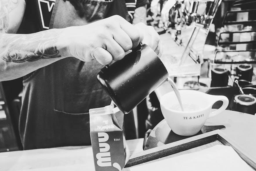 Brewing coffee in Reykjavík's Food Hall Hlemmur