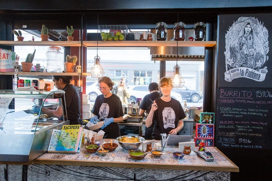 La Poblana is a Mexican restaurant in central Reykjavík