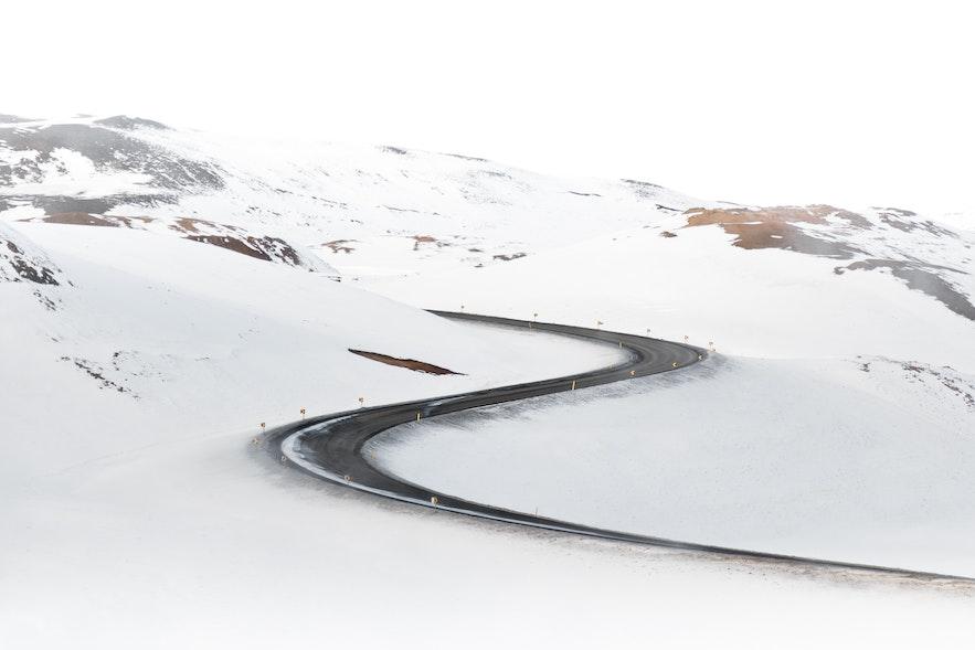 冰島冬季天氣幾好的路面情況