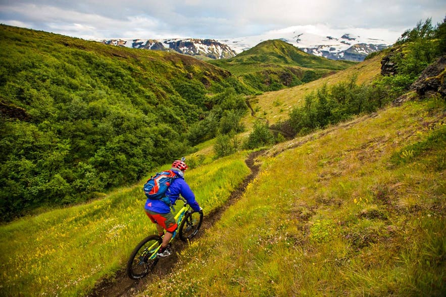 Iceland has hundreds of dedicated cycling trails, allowing bikers to experience the country doing the sport they love.