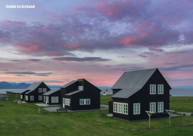 Travel around the Snæfellsnes Peninsula and visit the hamlet Búðir's iconic black houses.