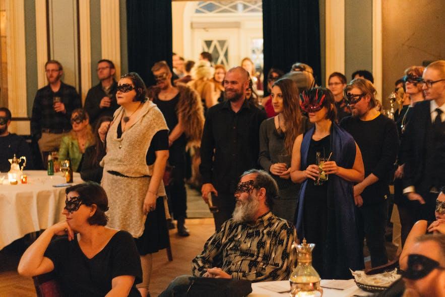 Audience members at Reykjavik Poetry Brothel