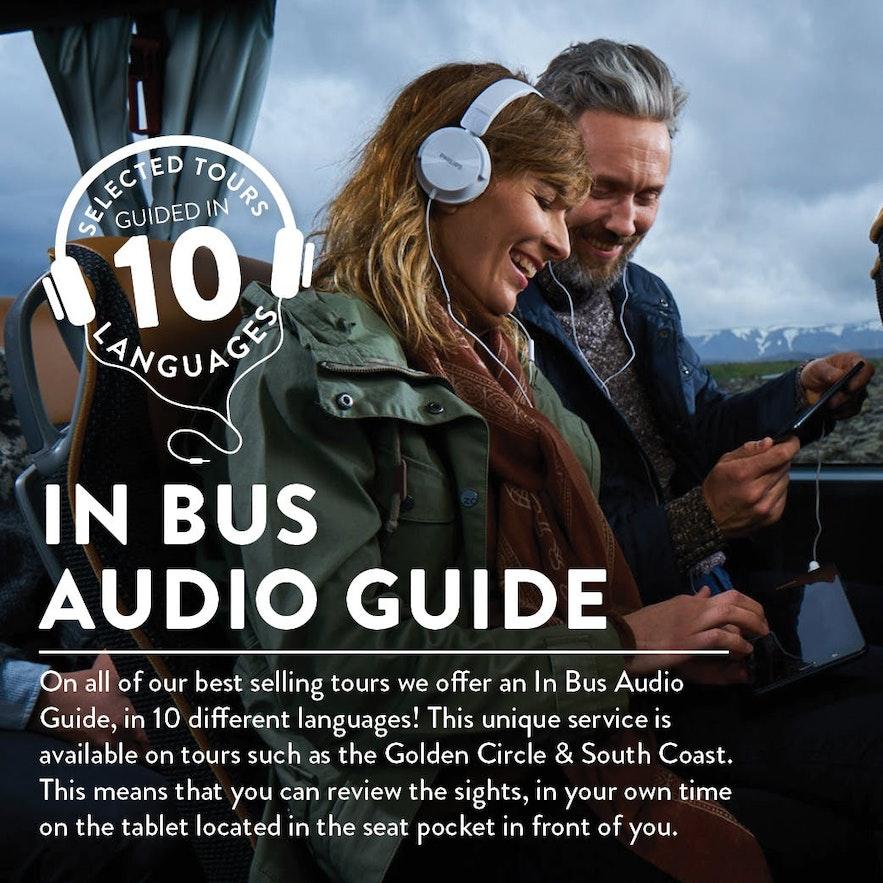 冰島本地附錄音導覽的巴士Tour