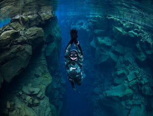 Night Time Free Dive at Silfra Fissure